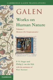 Galen: Works on Human Nature, Edited and translated by P. N. Singer, Philip J. van der Eijk