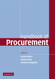 Handbook of Procurement by edited by Nicola Dimitri, Gustavo Piga, Giancarlo Spagnolo
