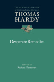 Desperate Remedies edited by Richard Nemesvari
