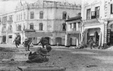 Japanese Troops Mop Up in Kuala Lumpur (Huff, World War II and Southeast Asia, p. 113).