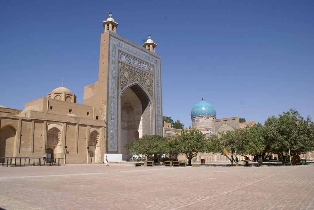 The shrine of Ahmad-i Jam. The saint's tumulus is located before the grand arch (iwan) Photo © 2021 Shivan Mahendrarajah