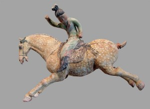 8th Century Tang Dynasty Polo Player, terracotta, Musée Guimet, Paris.