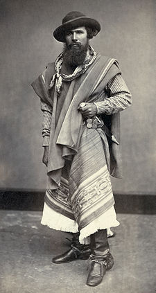 Gaucho from Argentina, 1868 (Wikipedia)