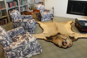 Lion rug in The Hemingway Collection