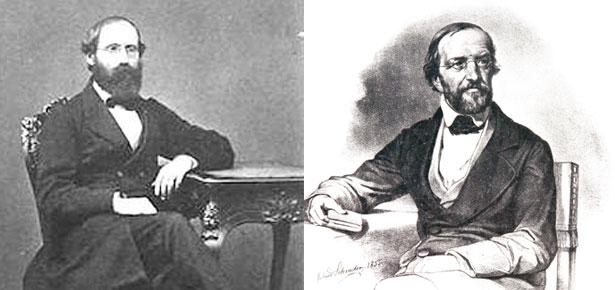 Bernhard Reimann (L) and Gustav Lejeune Dirichlet