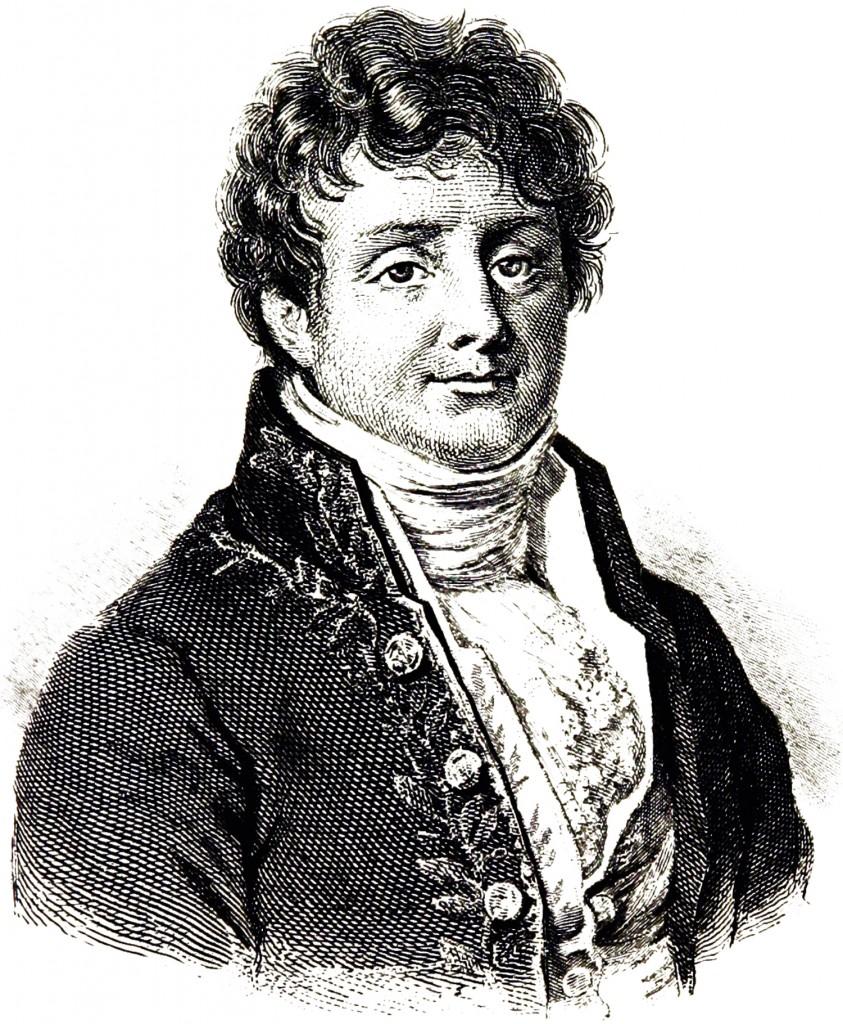 Portrait of Joseph Fourier, mathematician.