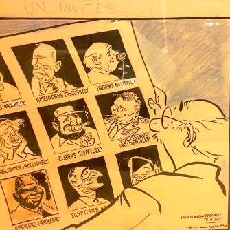 Laxman's big editorial cartoons were artwork. Source: author's collection.
