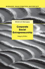 Corporate Social Entrepreneurship by Christine A Hemingway cover