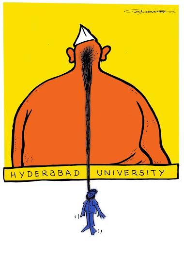 Tanmaya Tyagi on Dalit scholar Rohith Vemula's suicide. 2016. Courtesy Tanmaya Tyagi.