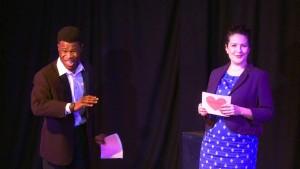 Jonathan Akingba Caroline Loncq. Photo credit George Riddell