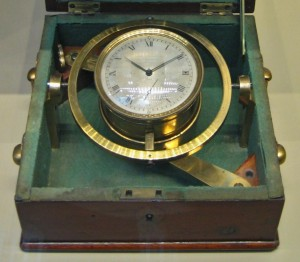 Marine chronometer that was used on the HMS Beagle, Public domain under Creative Commons licence from wikipedia: https://en.wikipedia.org/wiki/File:British_Museum_Marine_Chronometer_cropped.jpg
