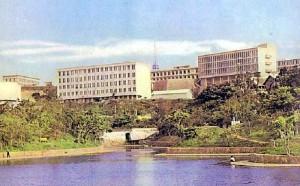 Ryukyu University in Shuri Castle in the 1960s. Image courtesy of Wikimedia Commons