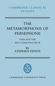 The Metamorphosis of Persephone By Stephen Hinds