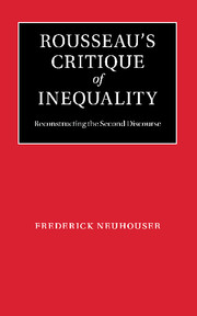 Rousseau's Critique of Inequality by Frederick Neuhouser