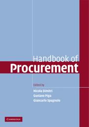 Handbook of Procurement by edited by Nicola Dimitri, Gustavo Piga, Giancarlo Spagnolo