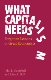 What Capitalism Needs by John L. Campbell and John A. Hall